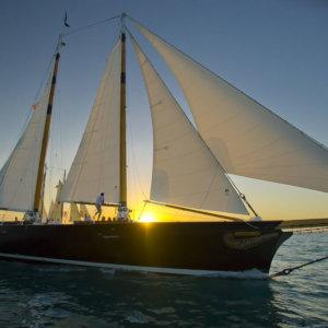 For the ultimate romantic adventure, go sailing on a schooner at sunset in Key West