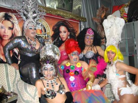 La jarrita is a gay bar and club in Lima with drag queen shows