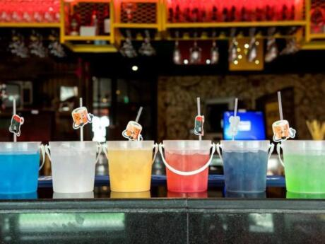 Mr Miyagi's is a really cool spot for streetfood and cocktails on Abu Dhabi's Yas Island