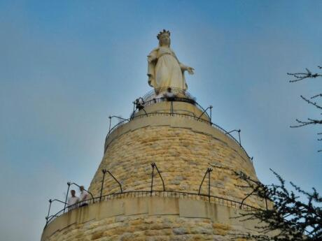 Harissa in Lebanon is home to the famous Our Lady of Lebanon pilgrimage site