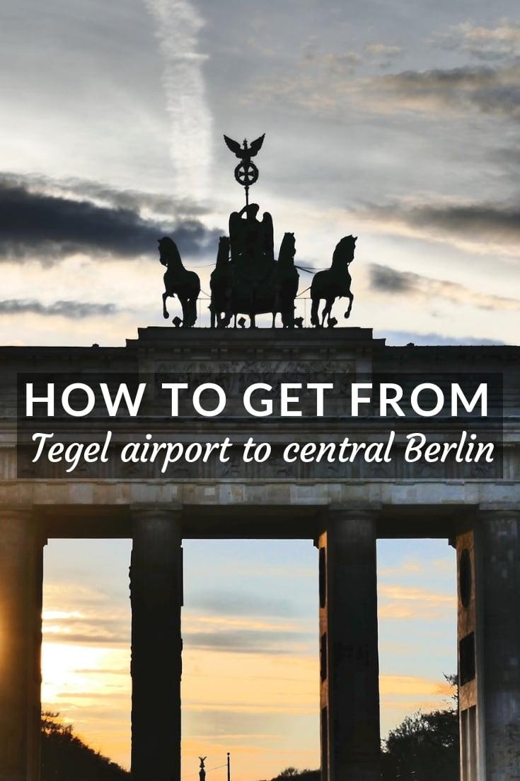 Find out the easiest and most affordable ways to get to Berlin's city centre from Tegel Airport