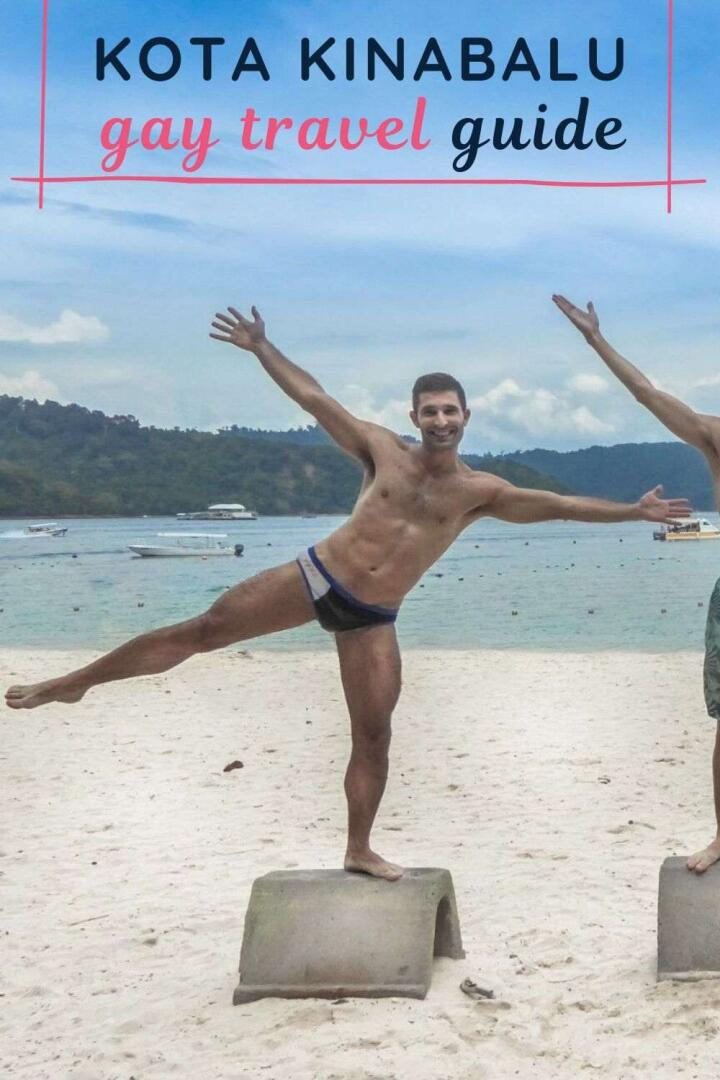 This is our Pinterest pic for our gay guide to kota Kinabalu in Malaysia