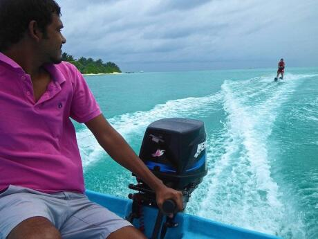 The Maldives are a wonderful spot to try lots of water-sports - from jet-skiing to parasailing!