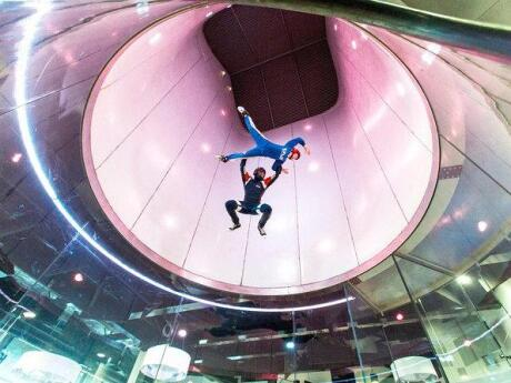 In Manchester you can experience the thrill of skydiving without having to jump out of a plane!
