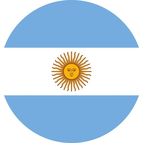 The flag of Argentina, one of the gayest countries in the world