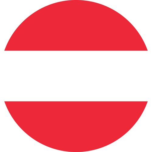 The Austrian flag red with a white line in the middle