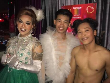 Barcode is the main gay bar in Siem Reap, with drag shows and a dance floor after