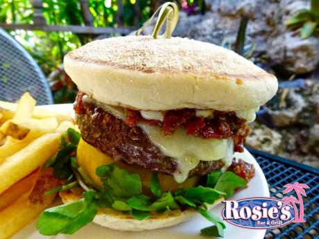 Rosie's is our favourite spot in Fort Lauderdale for mouthwatering burgers and other dishes with hilarious naughty names