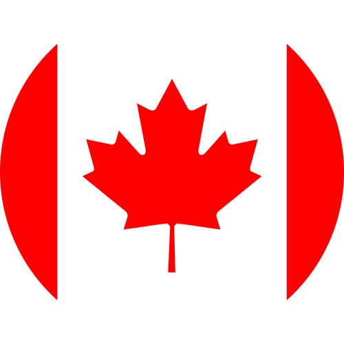 Gay flag of Canada with the red leaf in the middle, one of the most gay friendly countries in the world