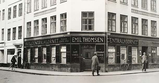 Old photo of Centralhjørnet, the oldest gay bar in the world