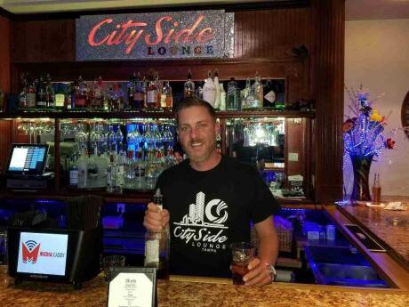 The City Side Lounge gay bar is a huge space in Tampa, with three bars inside and daily events