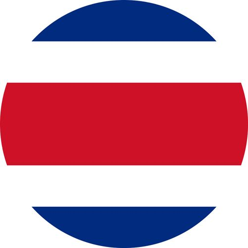The flag of Costa Rica, our new entry this year in our top 25 gay countries in the world