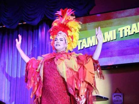 Miss Beneva Fruitville hosts a hilarious drag queen bingo event at the the McCurdy's Comedy Theatre once a month