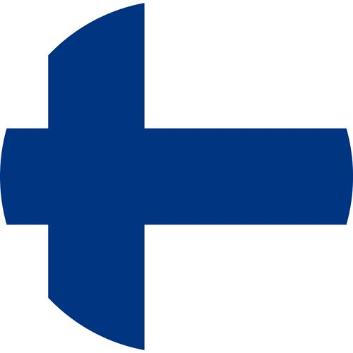 The flag of Finland, a very gay friendly country