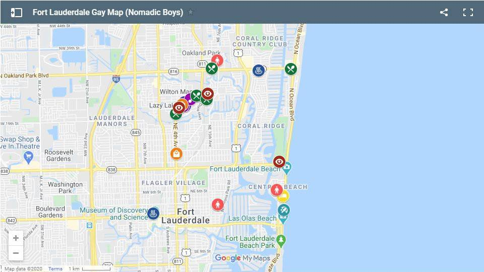 Check our our gay map of Fort Lauderdale to see where all the gay hotels, bars, clubs and more are located