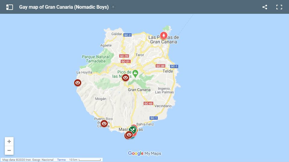 Use our gay map of Gran Canaria to plan your fabulous trip to this beautiful island