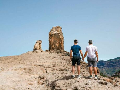 Hiking to the UNESCO rated Roque Nublo is a great way to get some exercise and a break from partying on Gran Canaria