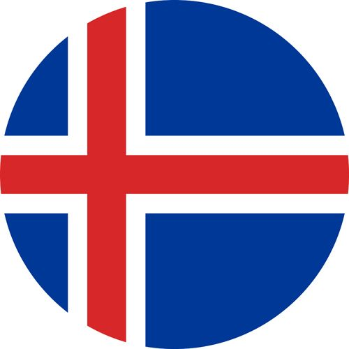 The flag of Iceland, one of the most gay friendly nordic countries