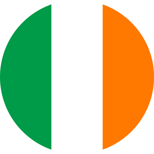 The flag of ireland, a country who respects its LGBTQ community