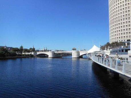 Walking next to the river along Tampa's Riverwalk is a lovely way to sightsee, get some exercise and enjoy the weather