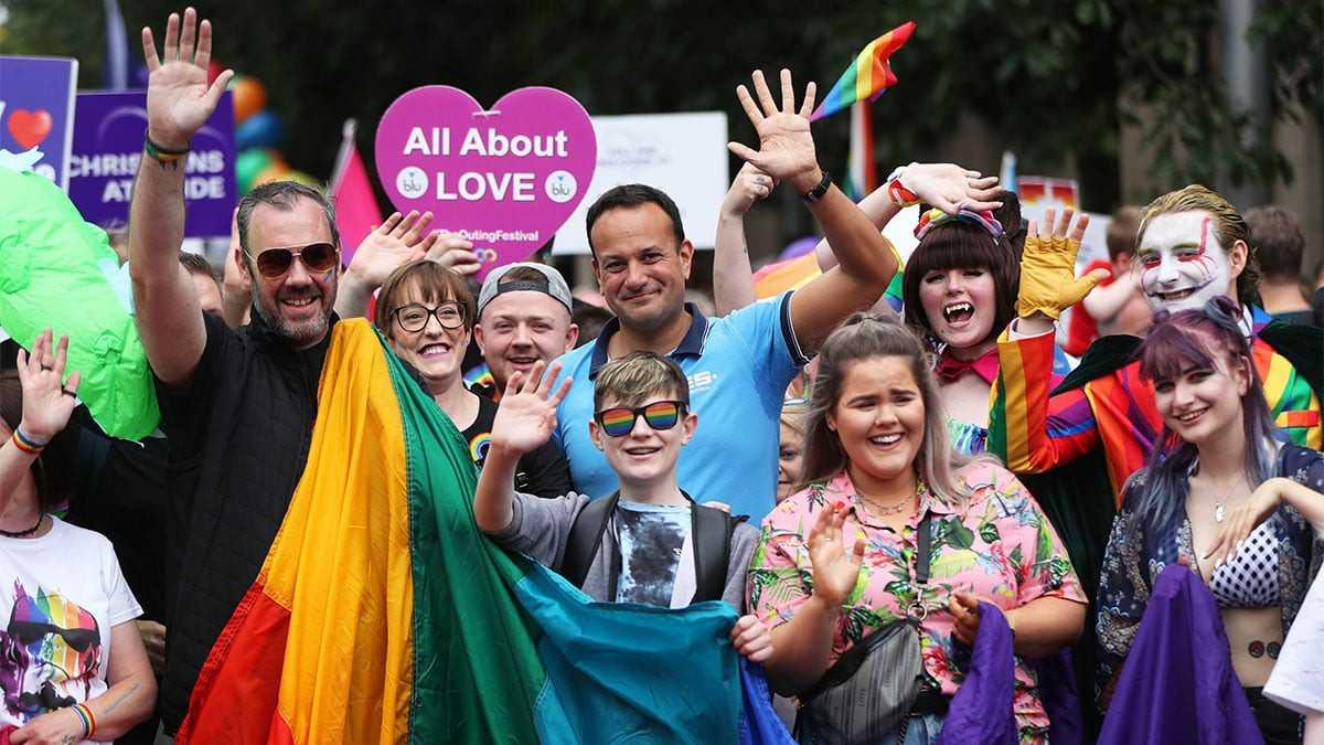 Leo Varadkar gay prime minister of Ireland, marching at Belfast Pride