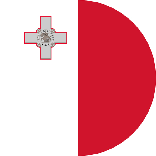 The flag of Malta, one of the most LGBT friendly countries in the world