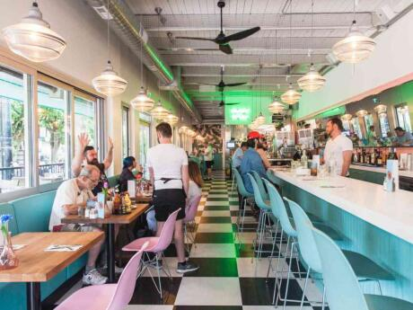 Mary's on Davie is an adorable 50s style diner with a sassy streak, delicious food and gay events like drag queen bingo!