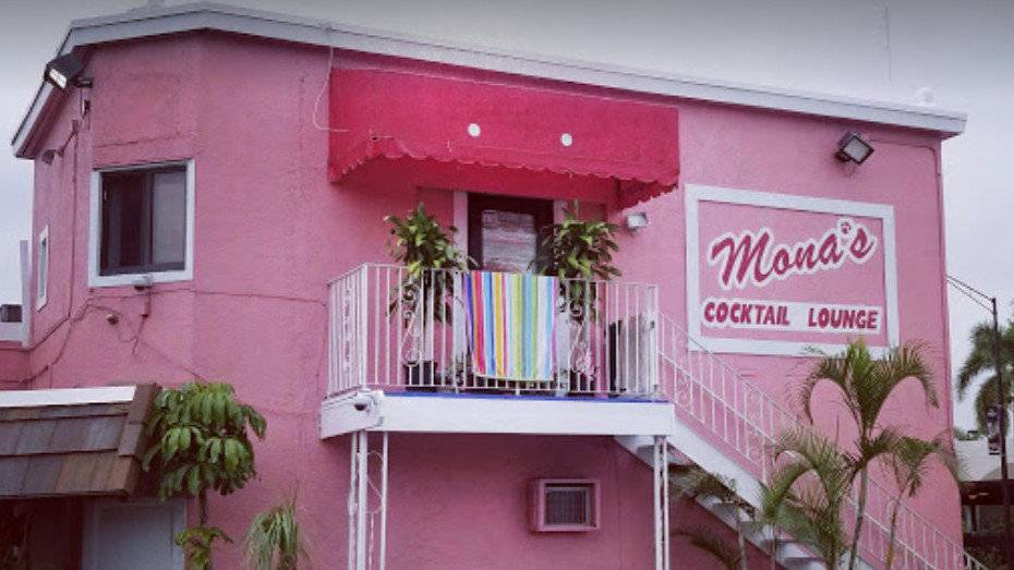 Mona's is a local dive bar in Fort Lauderdale with yummy cocktails