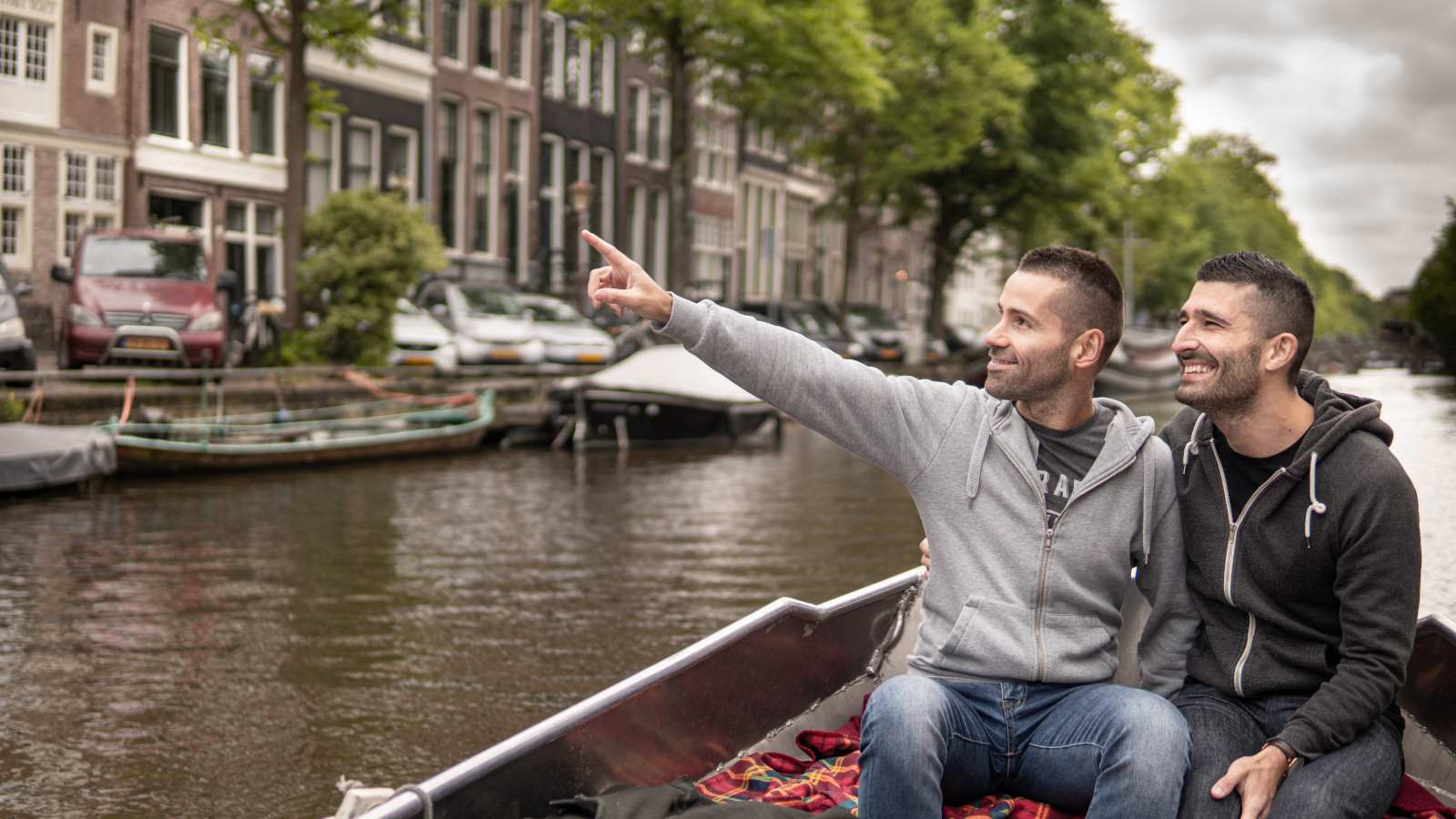 Nomadic Boys are Stefan and Sebastien gay couple, here they are together in Amsterdam