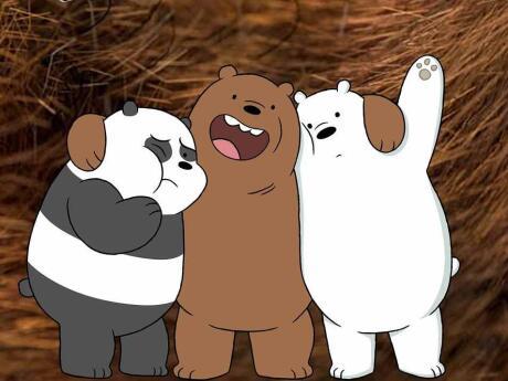 The 3 gay bears cartoons of Saloon 1 in gay key west