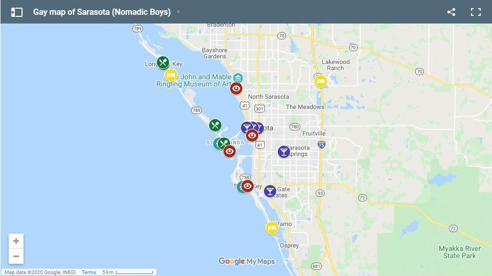 Here's our gay map of Sarasota, with all the best places for gay travellers to stay, party, eat and what to do!
