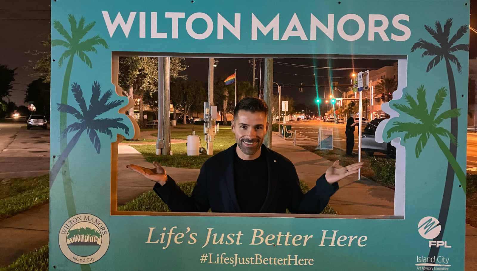 Wilton manor gay sign in Fort Lauderdale