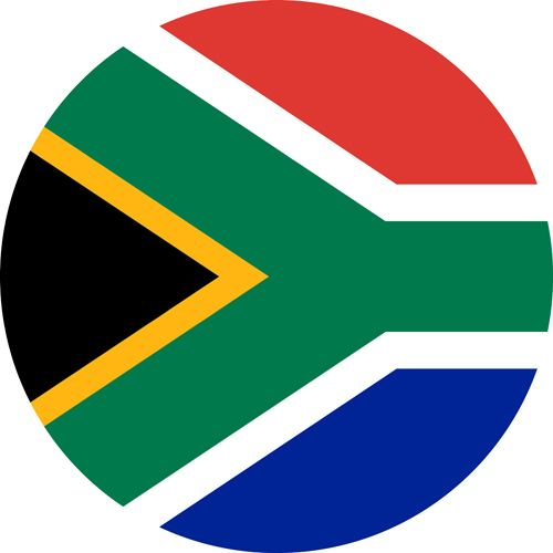 South Africa flag, the most gay friendly country on the continent of Africa