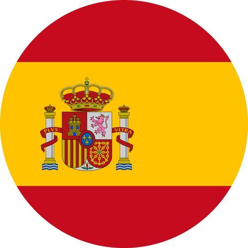 Spain flag red and yellow, welcoming country for the LGBT community
