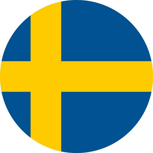 The flag of Sweden, a country we feel is one of the most gay friendly in Europe