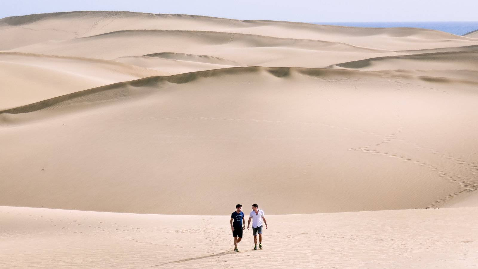 The sand dunes of Maspalomas in Gran Canaria are an impressive sight, and a popular spot for some gay cruising!