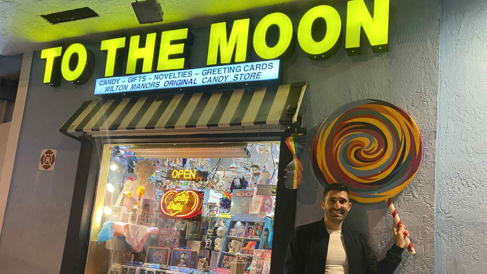 Fort Lauderdale is home to some great gay shops, including the quirky To The Moon with some of the funniest souvenir shops we've ever visited