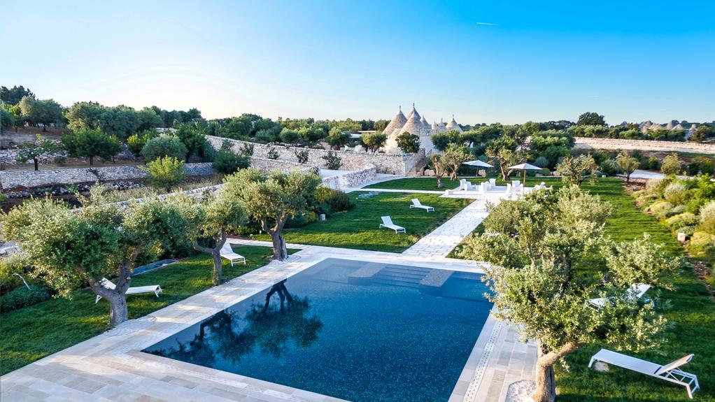 Trullo Incanto D'Itria offers sheer luxury in the Italian countryside, perfect for a group of gay travellers holidaying together!