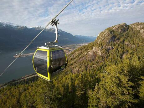 Head to Whistler from Vancouver for stunning views from the Sea to Sky Highway and/or Gondola