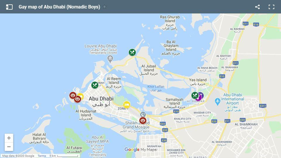 See where our favourite parts of Abu Dhabi are located on this handy gay map
