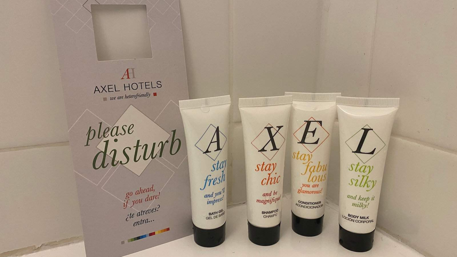 The Axel Hotel in Berlin is known as the 'grindr' hotel for its tolerant attitude to hanky panky and the fact it is a 'hetero-friendly' hotel!