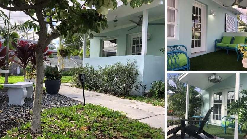 Bearadise Cottage é uma lista gay do Airbnb que fica bem no bairro gay Wilton Manors de Fort Lauderdale