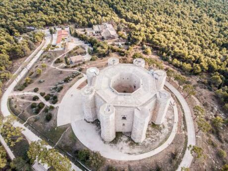 Castel del Monte is an impressive UNESCO listed 13th-century castle in Italy that's octagonal in shape