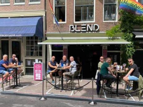 Blend is a trendy gay bar with a lovely terrace to enjoy in summer