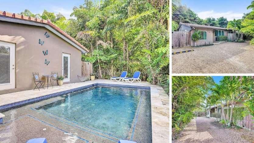 Tenha uma vila inteira com piscina para você neste Airbnb gay em Fort Lauderdale
