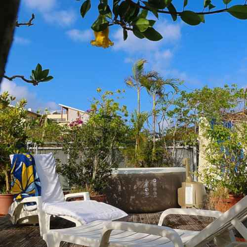 Le Carbet is a gay B&B on the Caribbean island of Martinique with a fab rooftop Jacuzzi!