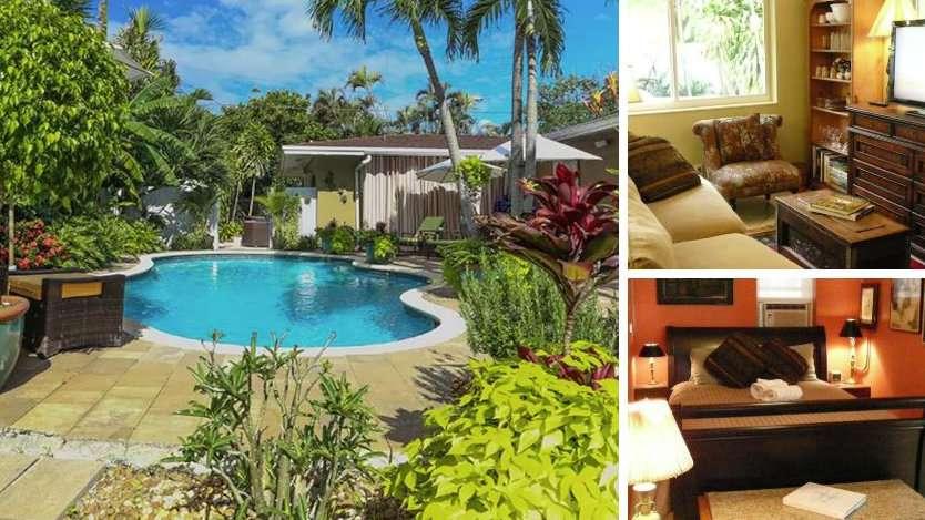 Esta lista gay do Airbnb fica perto do bairro gay de Fort Lauderdale e é muito aconchegante com uma linda piscina