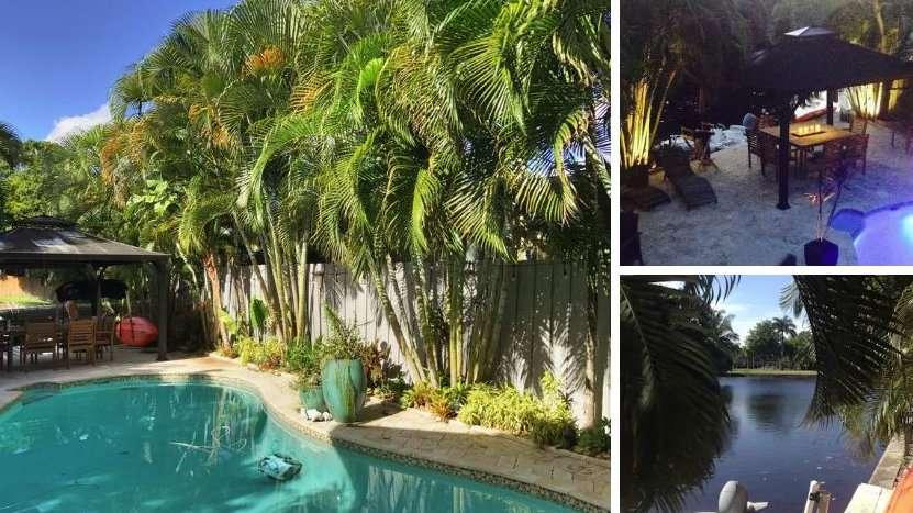 Você pode ficar junto a um canal e ainda ter sua própria piscina nesta lista gay do Airbnb em Fort Lauderdale
