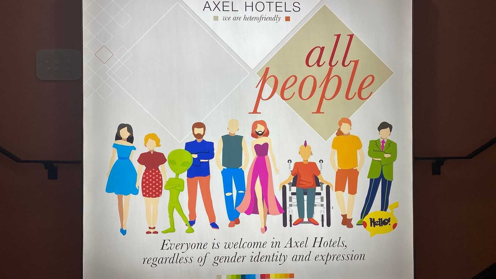Axel Hotels define themselves as 'hetero-friendly' which means they're the most gay friendly places to stay all over the world