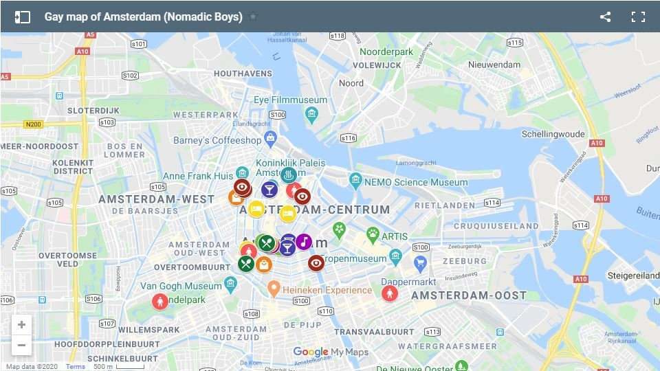 Use our gay map of Amsterdam to plan your own fabulous visit to this super gay city